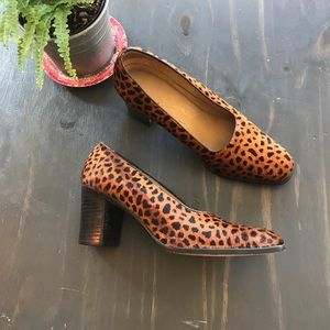 Franco Sarto animal print block heels size 6.5